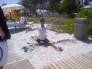 Новак Джокович готовится к матчу в Майами