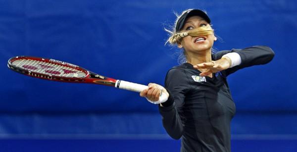 Анна Курникова на турнире WTA-тура