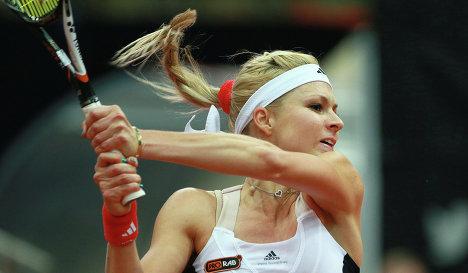 Мария Кириленко ведет в матче против Цибулковой