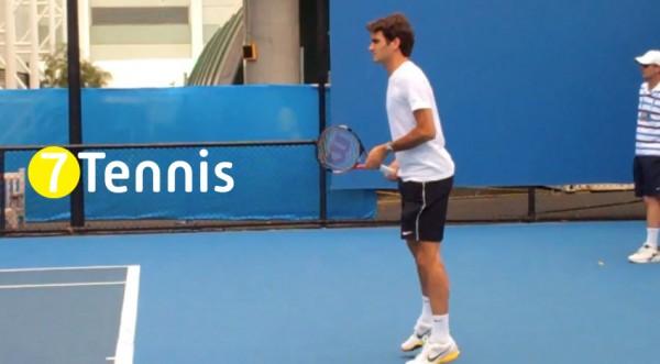 Shot Кадр: удар справа Роджера Федерера