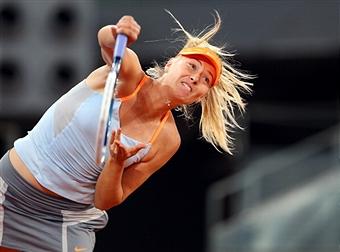 Мария Шарапова в четвертьфинале турнира в Мадриде