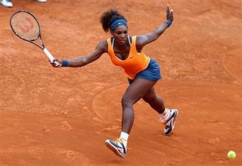 Серена Уильямс легко прошла в четвертьфинал турнира в Риме