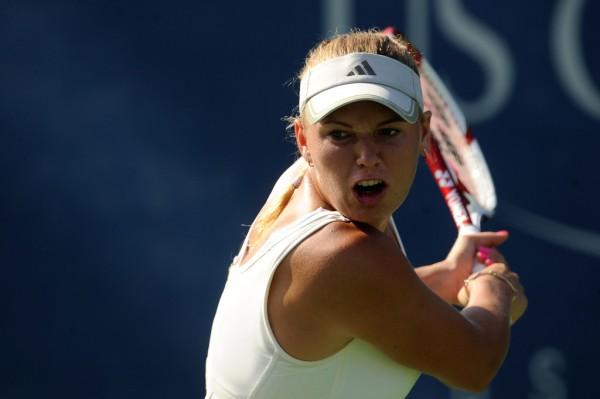 Каролин Возняцки на турнире WTA
