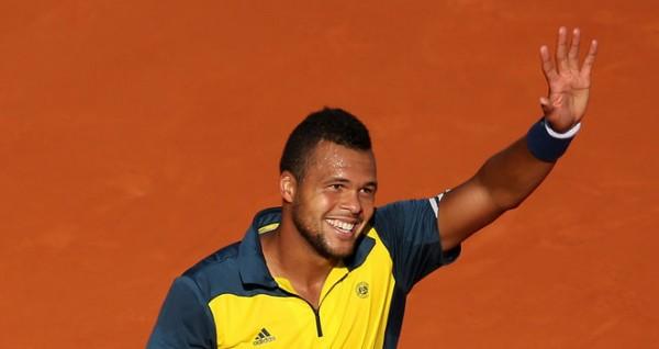 Жо-Вильфрид Тсонга на Открытом Чемпионате Франции по теннису