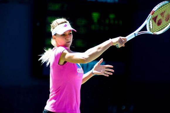 Мария Кириленко во время тренировки на US Open