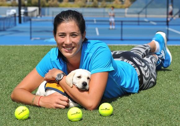 Габриэля Мугуруза в теннисном парке в Мельбурне