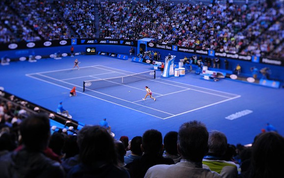 Фотографии финального матча в Мельбурне Цибулковой и На Ли