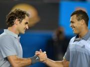 Отличный розыгрыш матчпоинта в матче Федерера и Тсонги