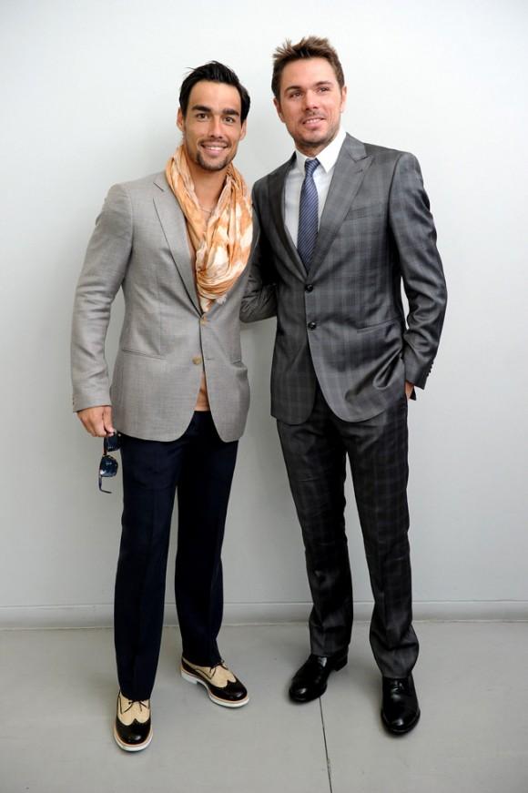 Фабио Фоньини и Станислас Вавринка посетили неделю моды