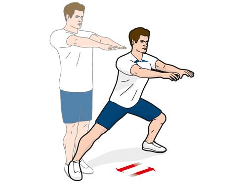 Упражнение A5: выпады в бок