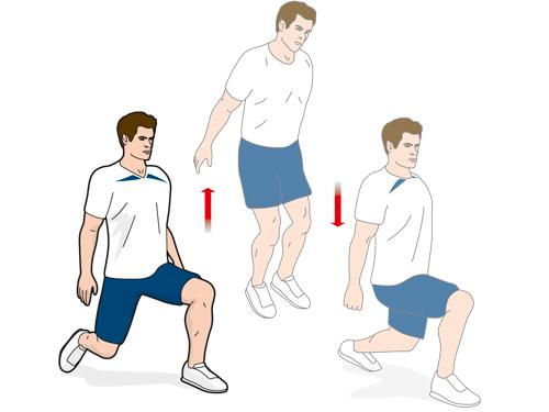 Упражнение B2: прыжки-разножки