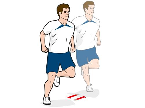 Упражнение B5: прыжки в бок на максимальное расстояние