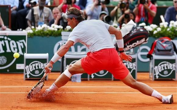 Испанец Рафаэль Надаль на Roland Garros