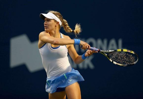 Эжени Бушар на турнире WTA