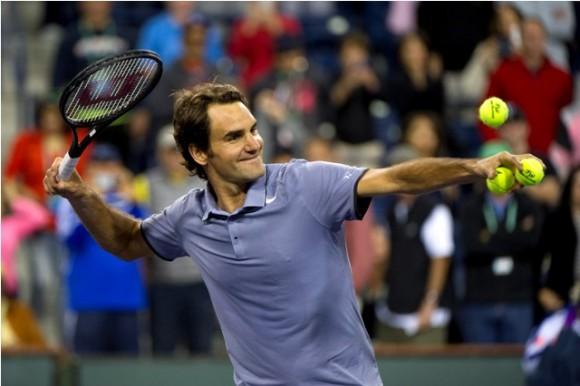 Федерер выиграл свой первый матч на турнире в Майами