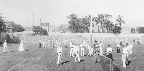 1900 год. Теннисный клуб в Галифаксе (Новая Шотландия, Канада)