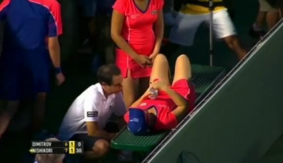 Димитров помог девушке подающей мячи в Майами