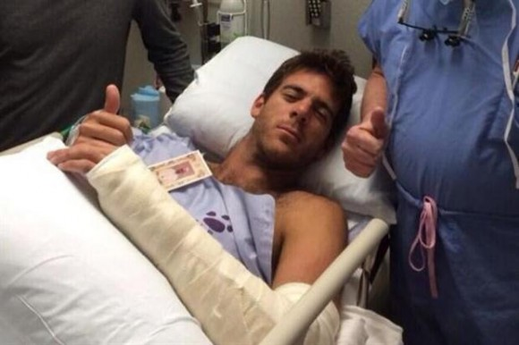Аргентинцу Дель Потро сделали операцию на руке + фото