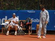 Рафаэль Надаль тренируется перед дебютом в Барселоне