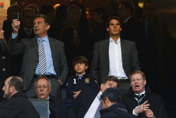 Рафаэль Надаль посетил матч мадридского Реала