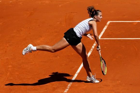 Ярмила Гайдошова на Открытом Чемпионате Франции