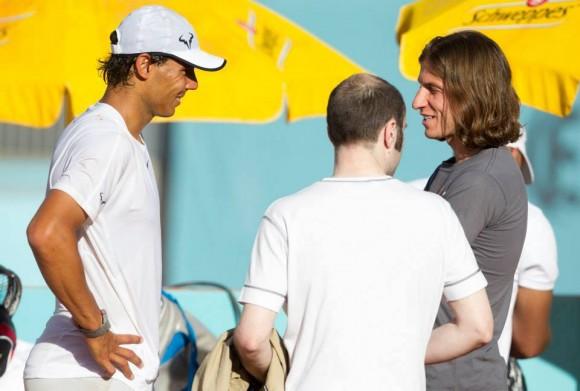 Тренировка Рафаэля Надаля на турнире Mutua Madrid Open