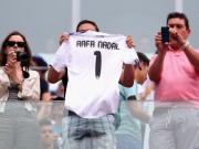 Испанец Рафаэль Надаль в матче против Хуана Монако