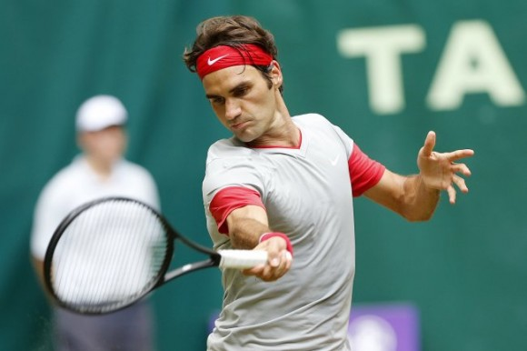 Роджер Федерер на турнире в Галле