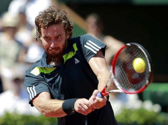 Эрнест Гулбис на турнире ATP в Париже