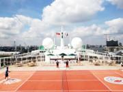 Фоньини и Штих сыграли в теннис на морском лайнере