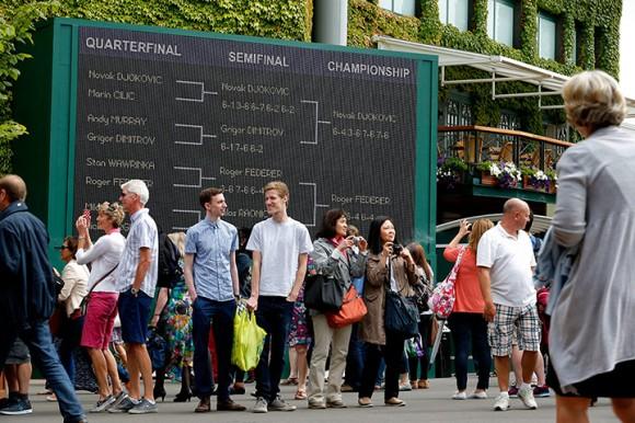 Финал Уимбдона 2014 между Новаком Джоковичем и Роджером Федерером