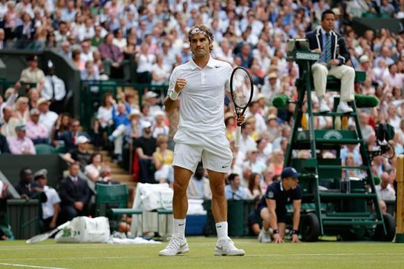 Роджер Федерер более 60 раз выходил к сетке в финале