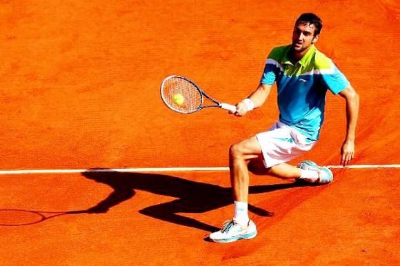 Марин Чилич на Открытом Чемпионате Франции по теннису