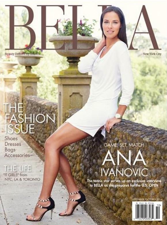Сербская теннисистка Ана Иванович на обложке журнала Bella