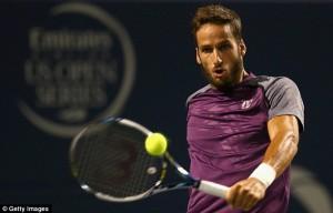 Испанский теннисист Фелисиано Лопес во время полуфинала