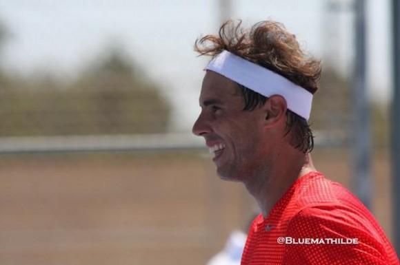 Рафаэль Надаль тренируется с Давидом Вегой на Мальорке